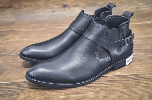 Giày cao cổ James Blanc da trơn