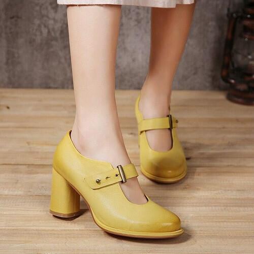 Giày cao gót Chunky