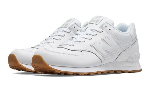 Giày nam trắng New Balance 574 Leather Sneakers