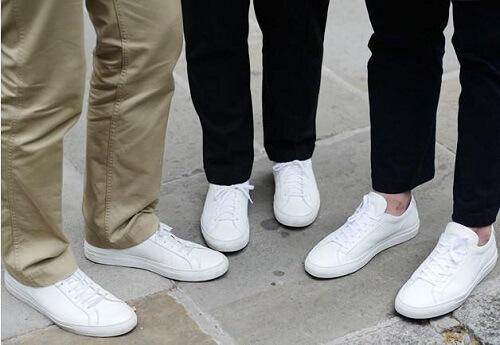 Giày sneaker trắng công sở cho nam