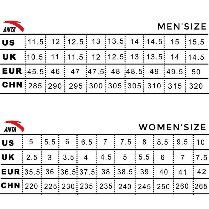 size giày quốc tế