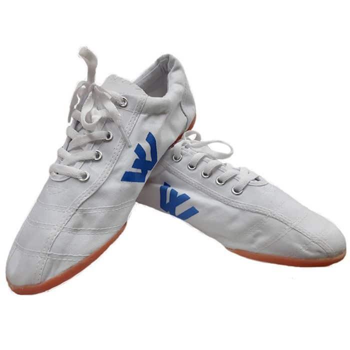 Giày vải Thượng Đình đá bóng màu trắng 1